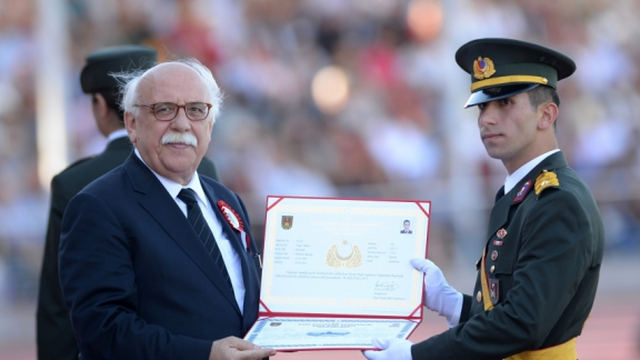 Minister Avcı attends diploma ceremony at Land Forces War School